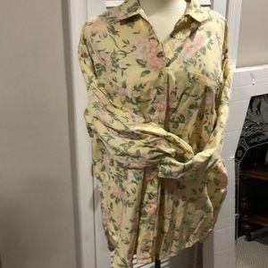 Ann Taylor floral cotton shirt